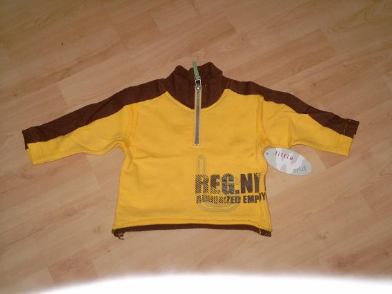 A470 Stoere geel/bruine sweater Another World mt 86
