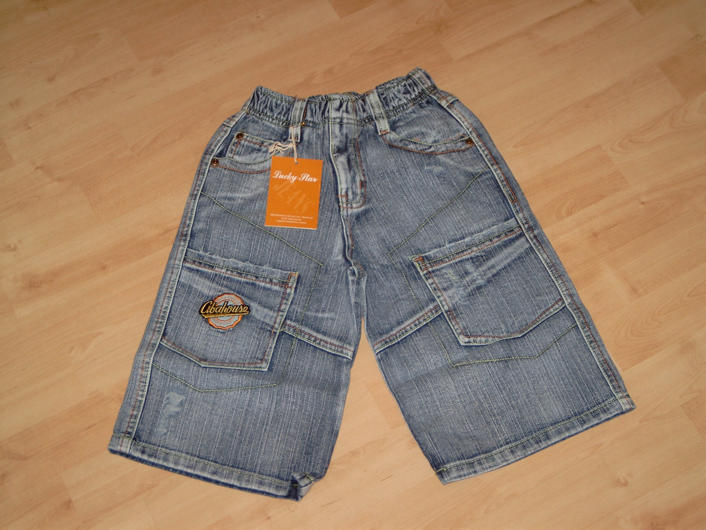 D500 Stoere jeansberumuda Lucky Star mt 170/176