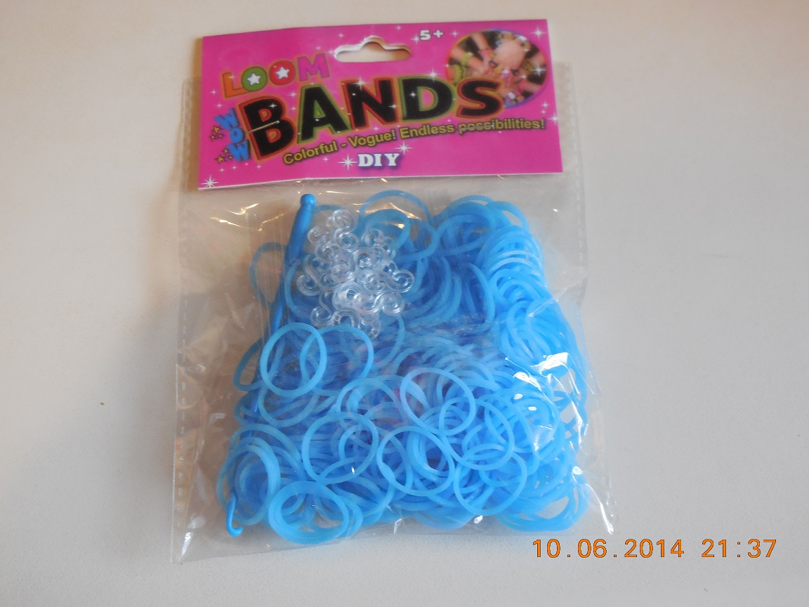 LB15 Loombands lichtblauw 300st
